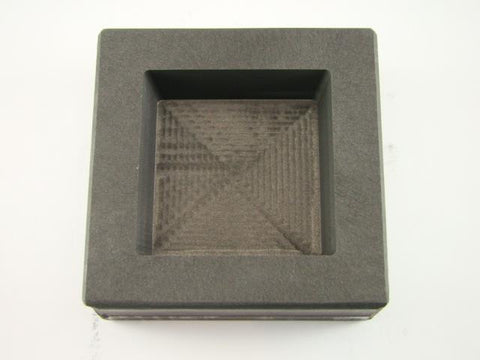 20 oz Gold 10 oz Silver Bar High Density Graphite Square Slab Mold Copper