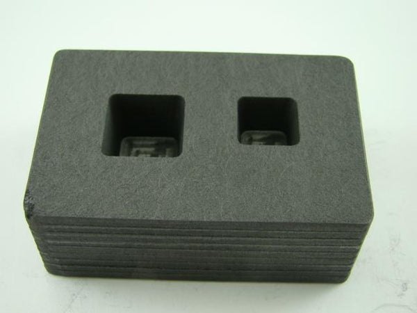 1/2 oz & 1 oz Gold Bar High Denisty Graphite Tall Cube Mold Combo Copper/ Silver