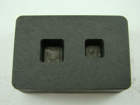 1/4 oz & 1/2oz Gold Bar High Density Graphite Tall Cube Mold Combo Copper