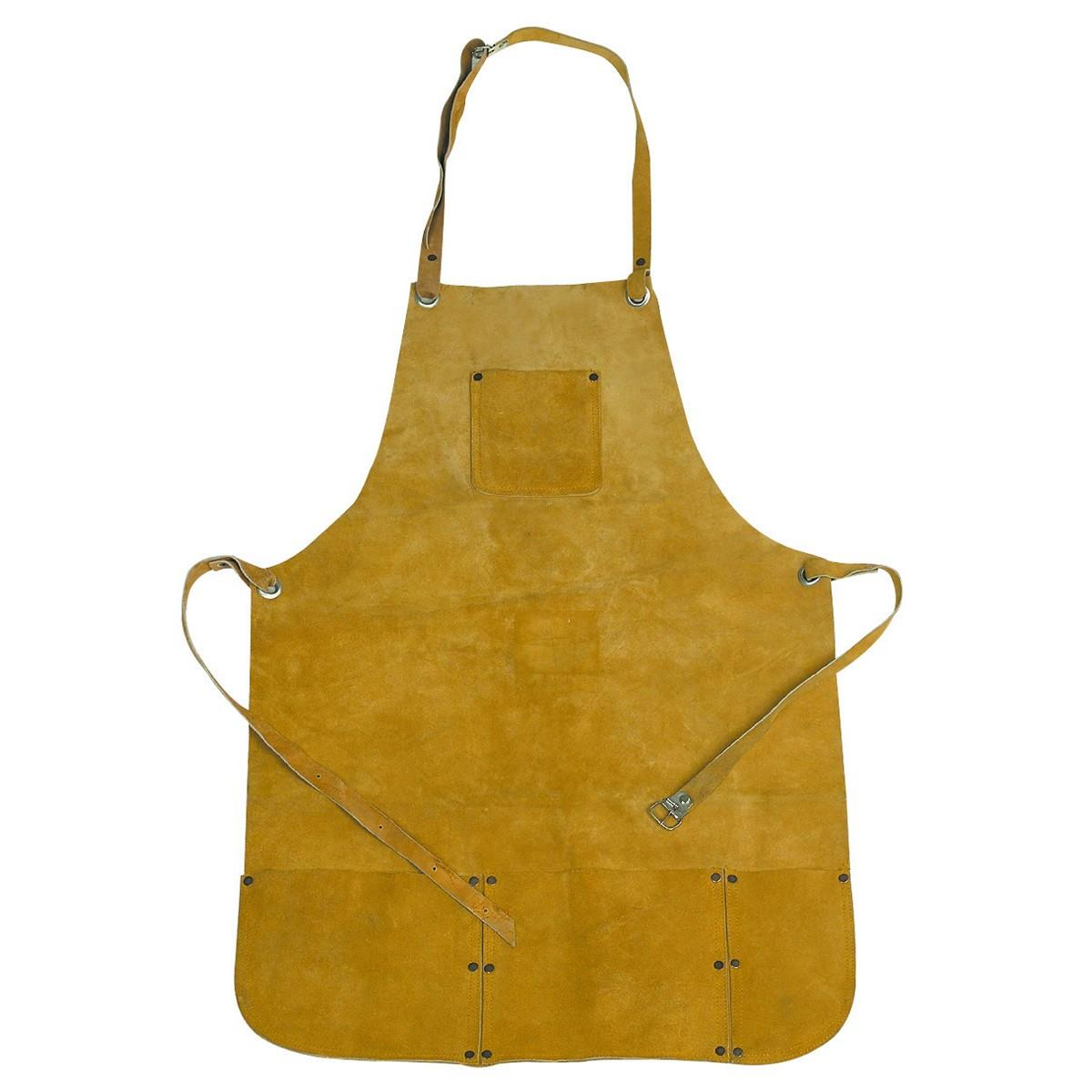 "Leather Apron 22"" X 32"" - 4 Pockets - Welding,Melting,Gold,Silver,Smelting"