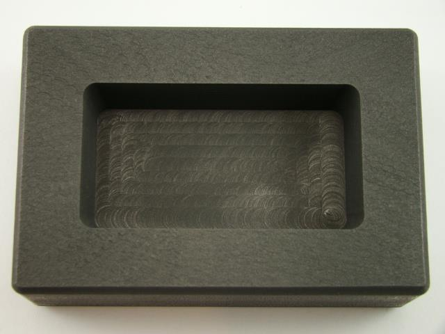 10 oz Silver Bar High Density Graphite Ingot Mold Loaf Style Rectangle Ag Silver