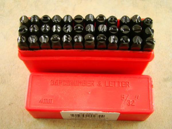 "5/32""  4MM Letter & Number Punch Stamp Set  Metal-Steel Serial# Trailers Tools"
