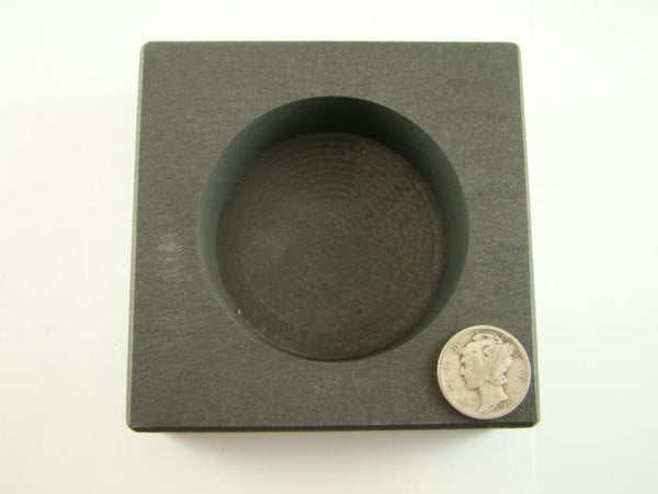 20 oz Round Gold Bar High Density Graphite Ingot Mold - Silver Copper Bar Coin