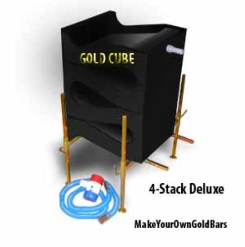 Gold Banker Cube Deluxe 4-Stack Recovery System-Concentrator-Mining-Sands-Sluice