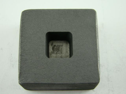 1/2 oz Gold 1/4 oz Silver Bar High Density Graphite Mold Tall Cube Copper
