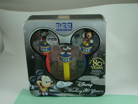 Pez and Disney Celebrate Mickey 80 Years Free Poster