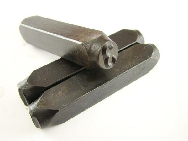 "1/4"" Number ""3"" Stamp-Punch-Hand-Tool-Gold Bar-Silver-Trailer-Metal-Leather"