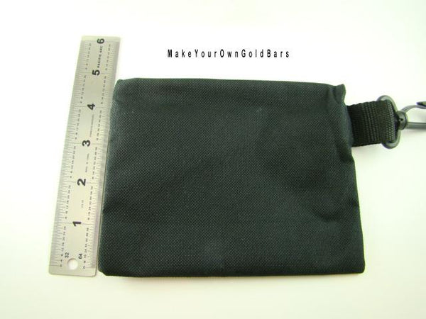 "Black Zippered Pouch 6"" X 5"" Storage-Gun-Cell-Flashlight-Camping-Survival"