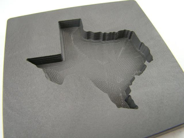 Custom Texas 5 oz + Gold Bar High Density Graphite Mold - Copper & Silver 3 oz +