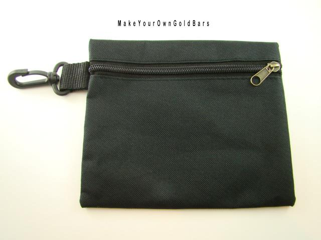 "Black Zippered Pouch 7"" x 6"" Storage-Gun-Cell-Flashlight-Camping-Survival"