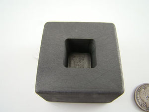 1 oz Gold 1/2oz Silver Bar High Density Graphite Tall Cube Mold Loaf Copper