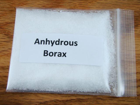 4 oz Anhydrous Borax-Crucible seasoning & sealing-Gold Recovery-Flux Smelting