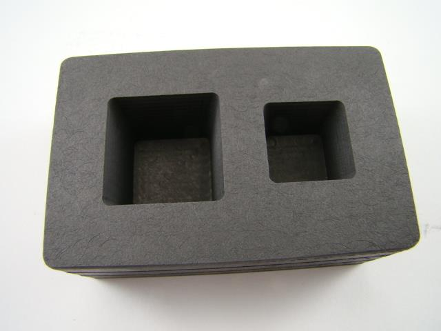 2 oz & 5 oz Gold Bar High Density Graphite Tall Cube Mold Combo Loaf (B89)