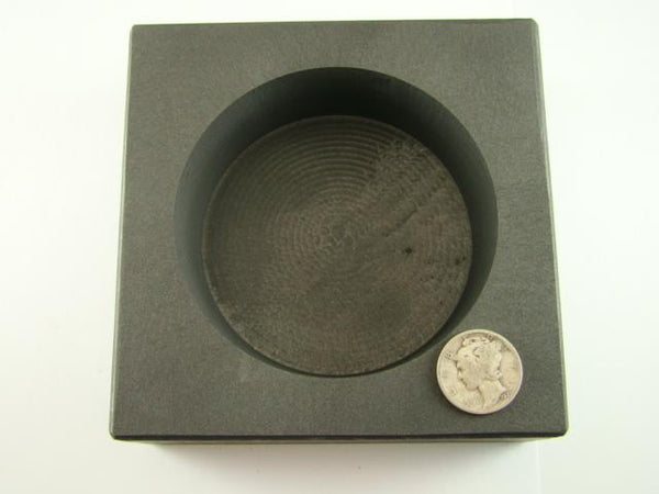 50 oz Round Gold Bar High Density Graphite Mold - Silver-Copper Bar Coin