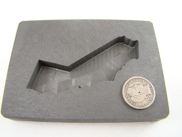 Custom California Gold Bar 5oz High Density Graphite Mold Silver 3oz Copper