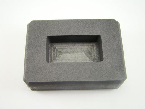 1 oz Silver Bar High Density Graphite Ingot Mold Loaf Rectangle AG Gold=2oz