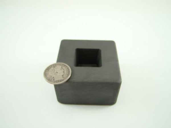 2 oz Gold 1 oz Silver Bar High Density Graphite Tall Cube Mold Loaf Copper