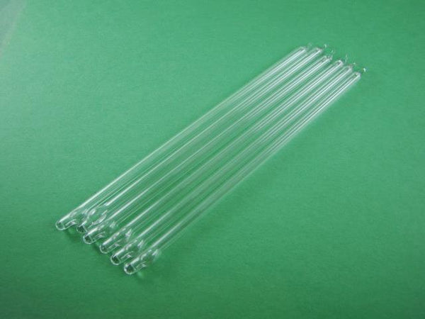 "Lot of 6 - 6"" Glass Vacuum Pin Tubes -Assay-Gold - Platnium - Smelting - (H41)"