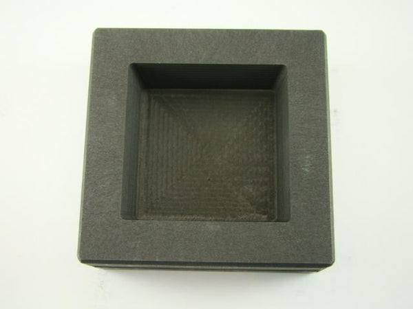 25 oz Gold - Silver Bar High Density Graphite Square Slab Mold Loaf Copper (H5)