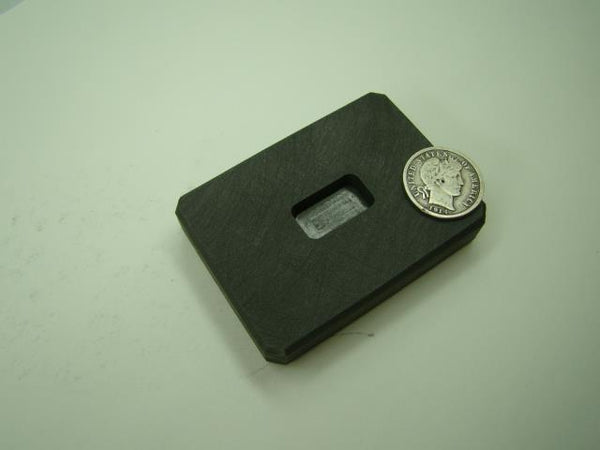 1/4 oz Gold 1/8 oz Silver Bar High Density Graphite Ingot Mold  Loaf