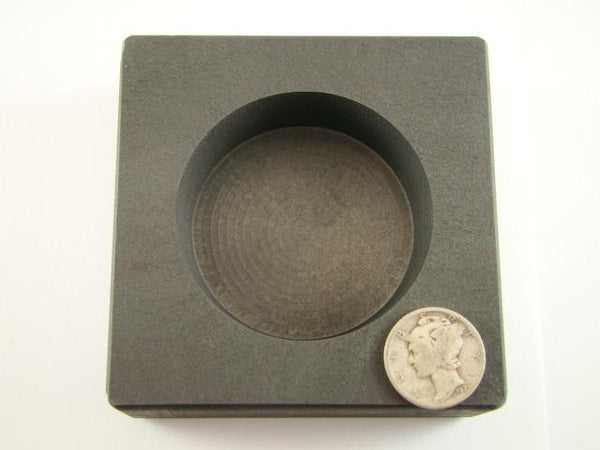 Round 15 oz Gold High Density Graphite Ingot Mold Silver-Copper Bar Coin
