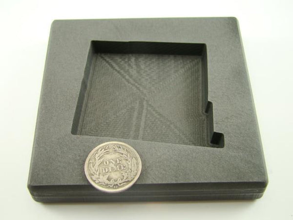 Custom New Mexico Gold Bar 10 oz Graphite Mold Silver 6 oz Copper State
