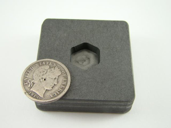 1/4 oz Gold 1/8 oz Silver Bar High Density Graphite Hexagon Mold Copper