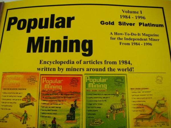 Popular Mining-Encyclopedia of Articles #1-Plans-DIY-Gold Prospecting History