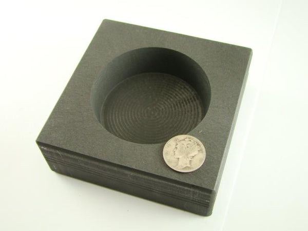 25 oz Round High Density Graphite Gold Bar Mold - Silver-Copper -Coin