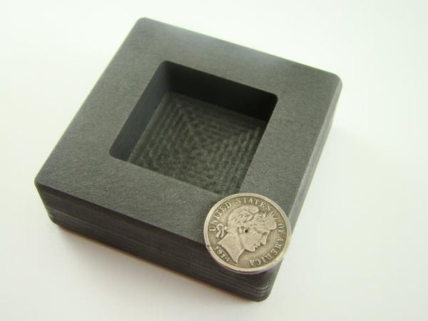 5 oz Gold 3oz Silver Bar High Density Graphite Square Slab Mold Loaf Copper