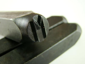 "1/4"" Letter ""M"" Stamp-Punch-Hand-Tool-Gold Bar-Silver-Trailer-Metal-Leather"