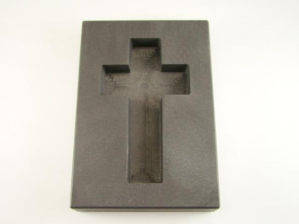 10 oz Deep Cross Gold High Density Graphite Mold 5 oz Silver Necklace