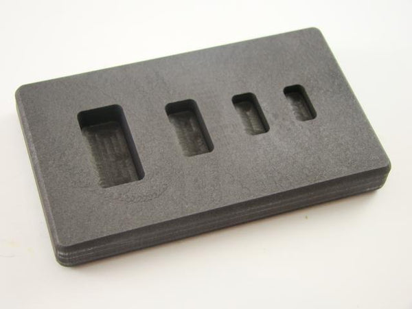High Density Graphite Mold 1-2-5-10 Gram Silver Bars Ag 4-Cavities Gold+