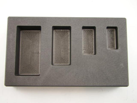 1-2-5-10 oz Silver Bar AG High Density Graphite Mold 4-Cavity Combo