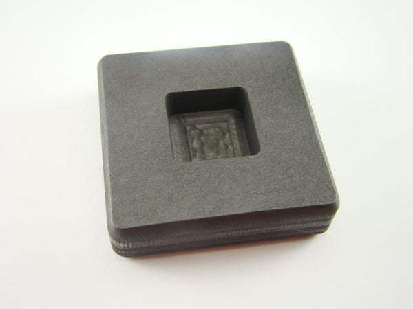 1 oz Gold 1/2oz Silver Bar High Density Graphite Square Mold Loaf Copper
