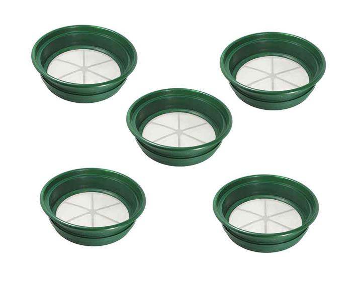 Set of 5 Large Screens Classifier Sifting Gold Panning 1/2-1/4-1/8-1/12-1/20 Gem