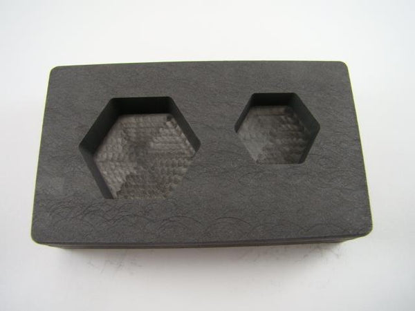 2 oz & 5 oz Hexagon Gold Bar High Denisty Graphite Mold Combo-Loaf Silver Copper