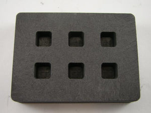 Graphite Mold 1/4 oz Gold Bar Silver 6-Cavities Cube Ingots Copper 1/8 oz