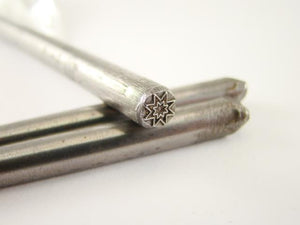"Gothic ""Star"" Symbol 3/16""-5mm-Stamp-Metal-Hardened -Gold & Silver Bars"