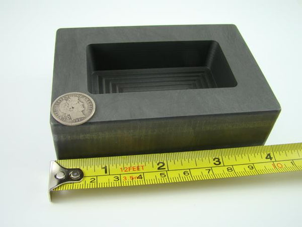 20 oz Gold 10 oz Silver High Density Graphite Mold Bar Loaf Scrap Copper