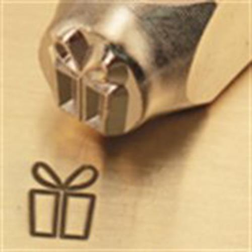 """Christmas Gift Box""1/4""-6mm-Large Stamp-Punch-Metal-Steel-Gold&Silver Bars"