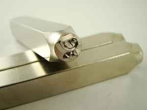"""Chickadee Chick"" 1/4""-6mm-Large Stamp-Metal-Hardened Steel-Gold&Silver Bars"