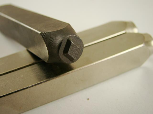 """Diamond Cards"" 1/4""-6mm-Large Stamp-Metal-Hardened Steel-Gold&Silver Bars"