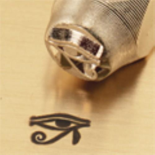 """Eye of Horus Sign""1/4""-6mm-Large Stamp-Punch-Metal-Steel-Gold&Silver Bars"