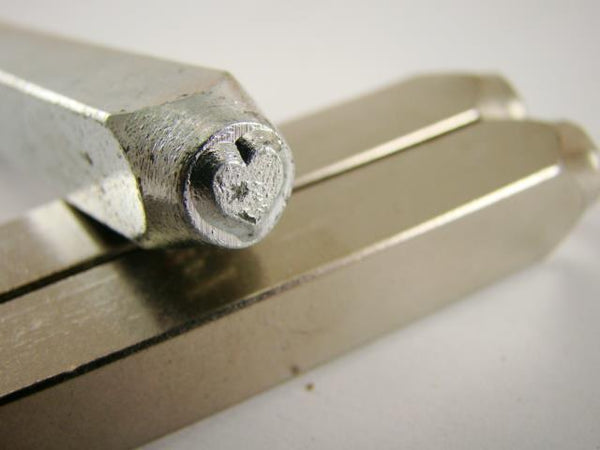 """Solid Heart"" 1/4""-6mm-Large Stamp-Metal-Hardened Steel-Gold&Silver Bars"