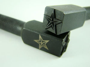 """Star"" Double 3/8""-10mm-Large Stamp-Metal-Hardened Steel - Gold & Silver Bars"