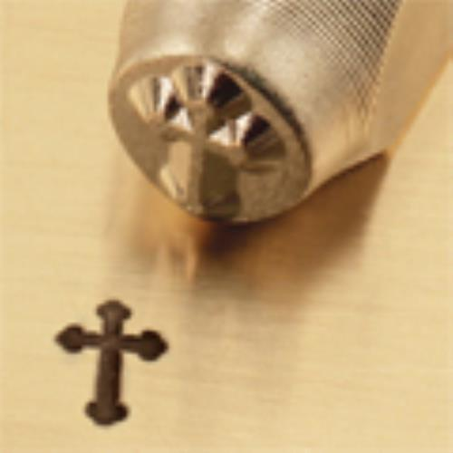 """Rounded Cross""1/4""-6mm-Large Stamp-Punch-Steel-Gold&Silver Bars Copper"