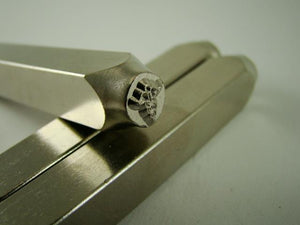 """Medical Sign"" 1/4""-6mm-Large Stamp-Metal-Hardened Steel-Gold&Silver Bars"
