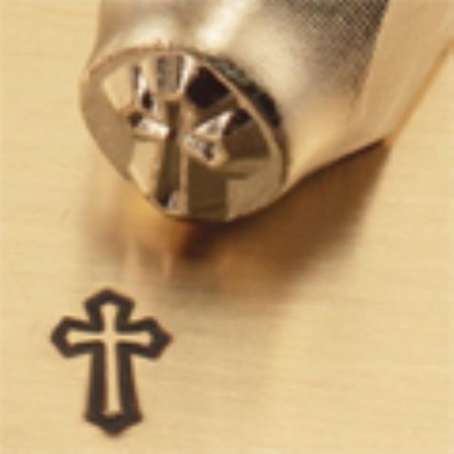 """Cross Outline"" 1/4""-6mm-Large Stamp-Punch-Metal-Steel-Gold&Silver Bars Copper"
