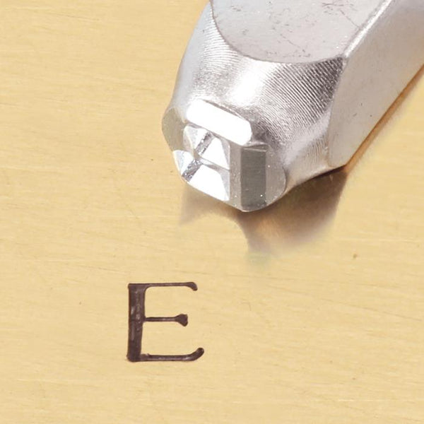 """Greek-Epsilon-Sign"" 1/4""-6mm-Large Stamp-Punch-Metal-Steel-Gold&Silver Bars"